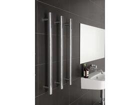 Milli Pure Vertical Triple Heated Towel Rail 900 x 38mm Chrome