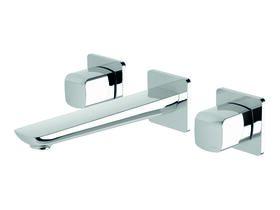 Milli Glance Wall Basin / Bath Set Chrome