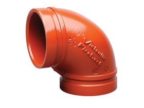Victaulic Roll Groove Elbow Painted x 90 Degree