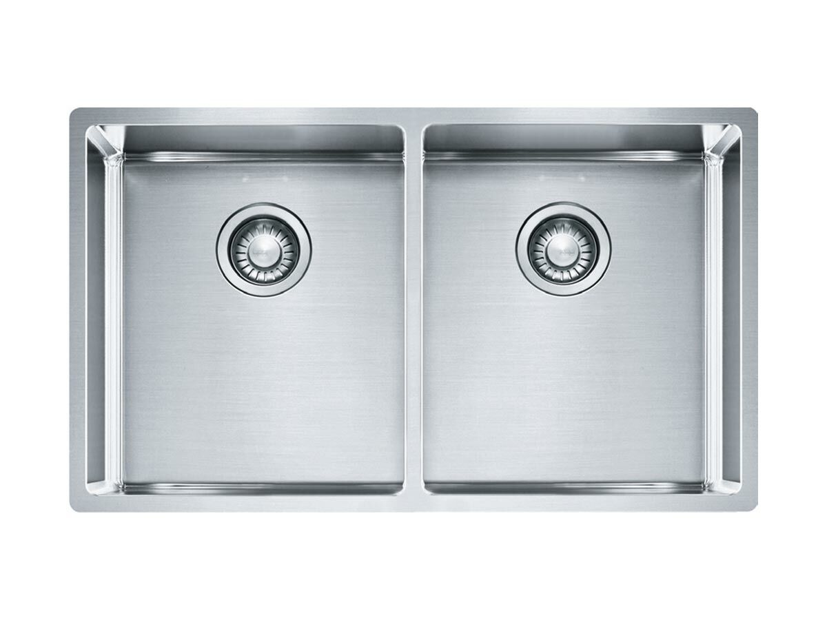 Franke Bow BXX220-36 Double Bowl Inset/ Undermount/ Flushmount Sink Only Stainless Steel