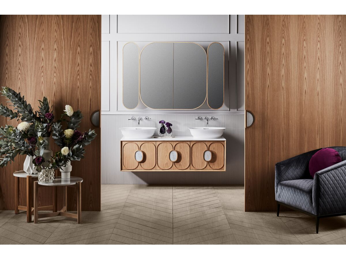 Issy Blossom Shaving Cabinet and Vanity Unit