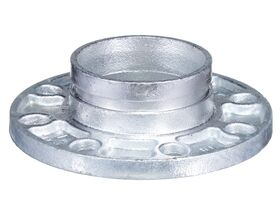 Roll Groove Table E Flange Adaptor Galvanized 100mm