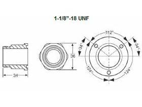 Traxoil Adapter Screw 1 1/8 OM0-CBB