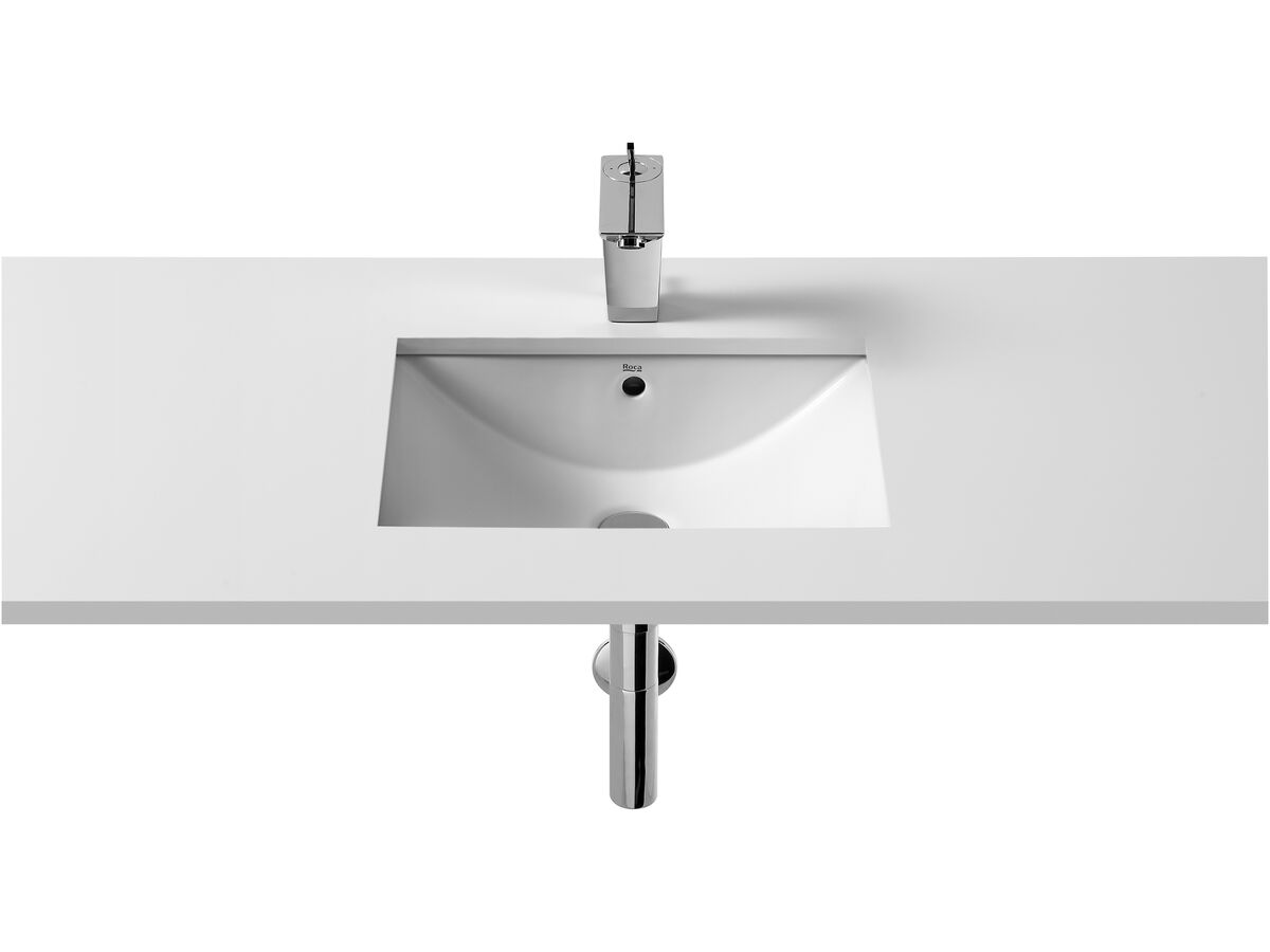 Diverta Undercounter Basin with Overflow No Taphole 500mm White