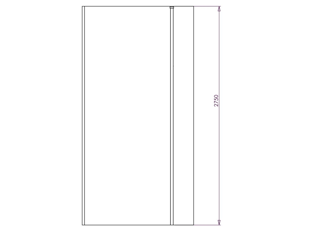 Kado Lux Fixed Shower Screen Panel and Ceiling Support 1000mm Chrome