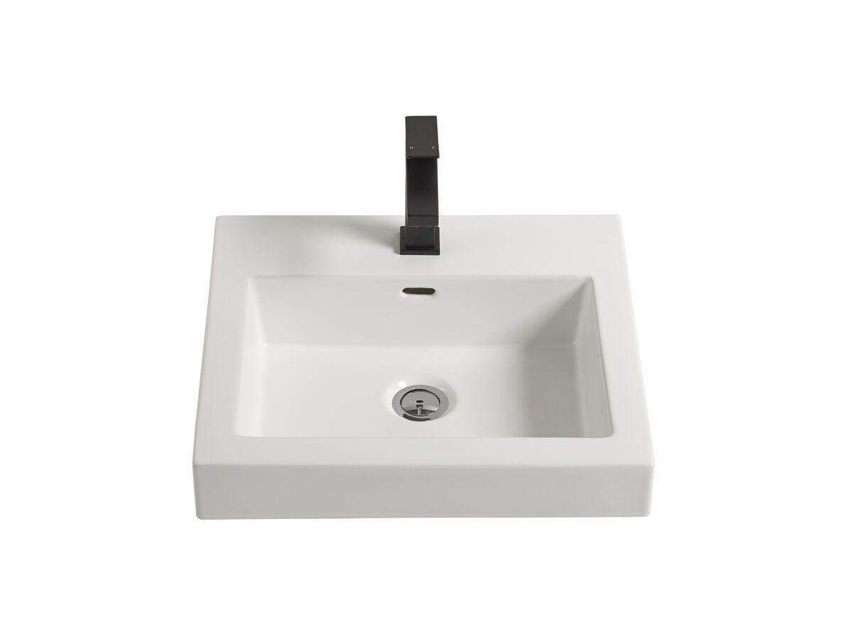 Kado Lux Semi Inset Basin 1 Taphole White From Reece