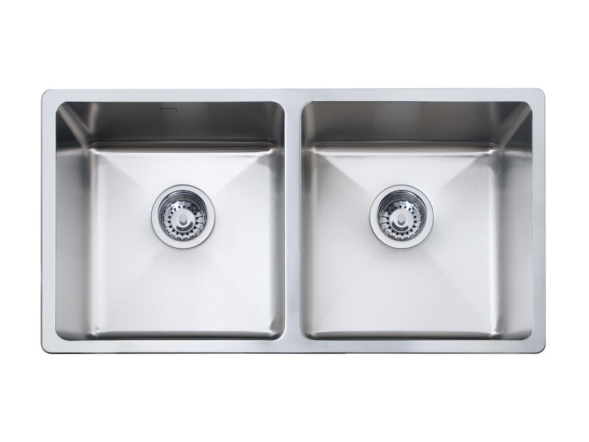 Memo Hugo Double Bowl Sink No Taphole Stainless Steel