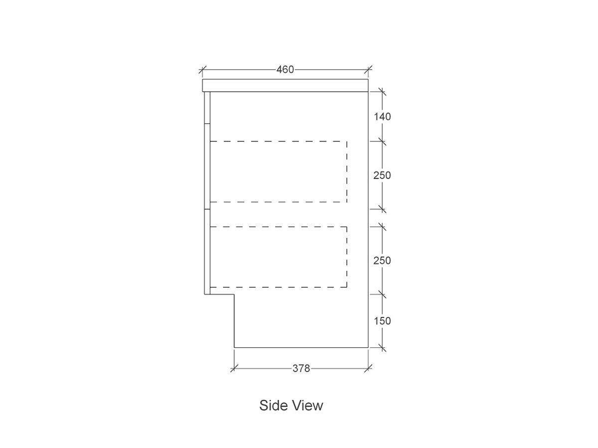 Acqua Kick Single Bowl Vanity Unit 900mm Blackbutt Timber Top