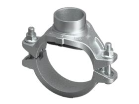 Roll Groove Mechanical Tee (Galvanized) BSP
