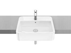 The Gap Semi Recessed Basin 550x410 1 Taphole White