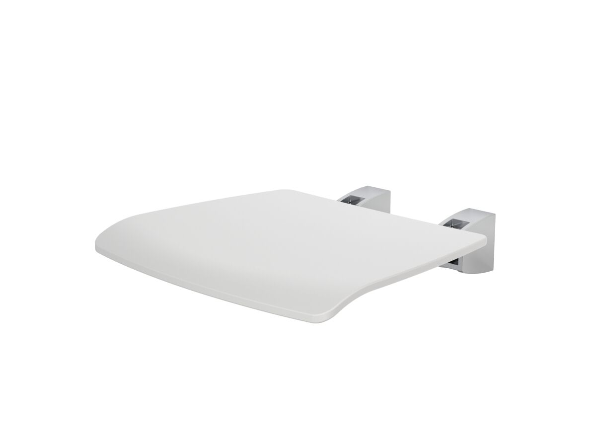 Caroma Opal Shower Seat Folding White / Stainless Steel mount