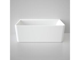 Caroma Cube Back To Wall Freestanding Bath 1600 White