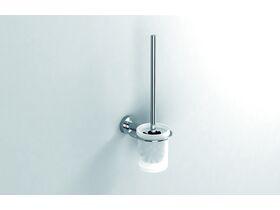 Sonia Tecno Wall Mounted Toilet Brush Set Chrome/ Glass
