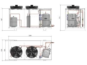ACPAC Packaged Condensing Unit AP8.8M2-4 3 Phase