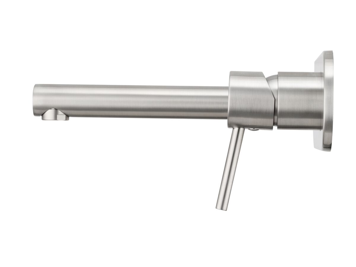 Mizu Drift MK2 Wall Basin Mixer Tap Set Brushed Nickel (4 Star)