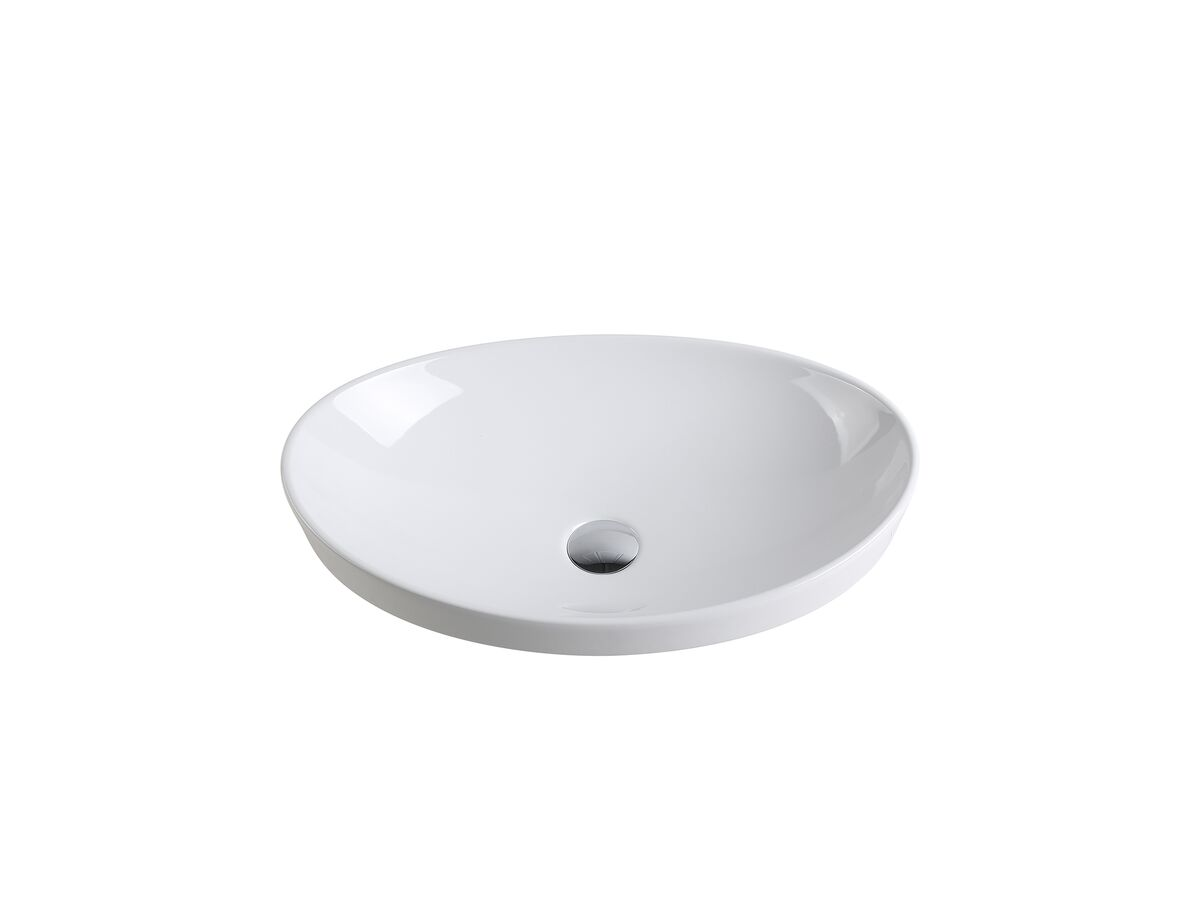 Kado Neue Oval Semi Inset Basin No Taphole 560mm