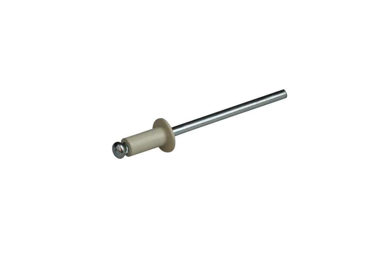 Bridgland Rivet Coloured/Steel 3.2mm (4-3) Surfmist (100)