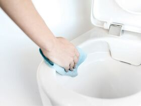Caroma Forma Pan with Invisi Cistern Soft Close Quick Release Seat White
