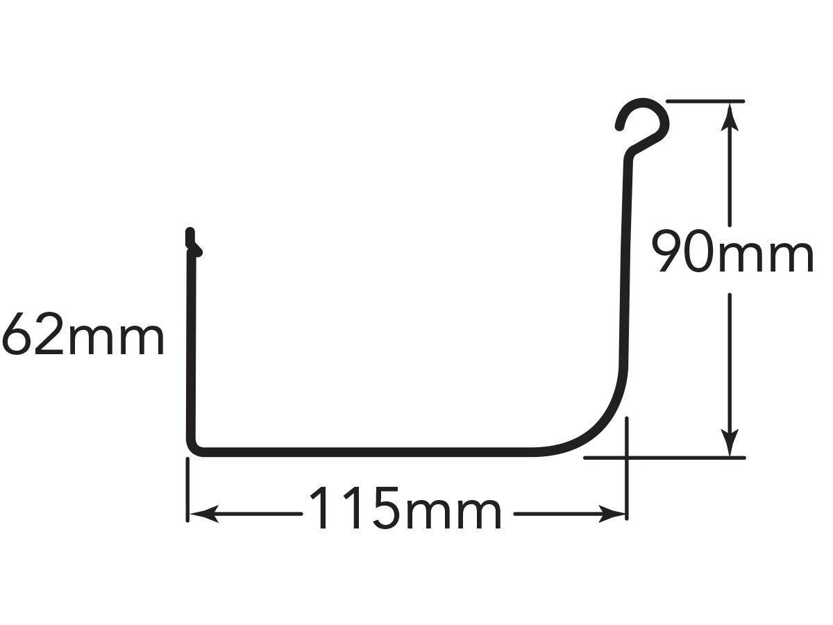 Quad Gutter 115mm Hi-Tensile .42mm