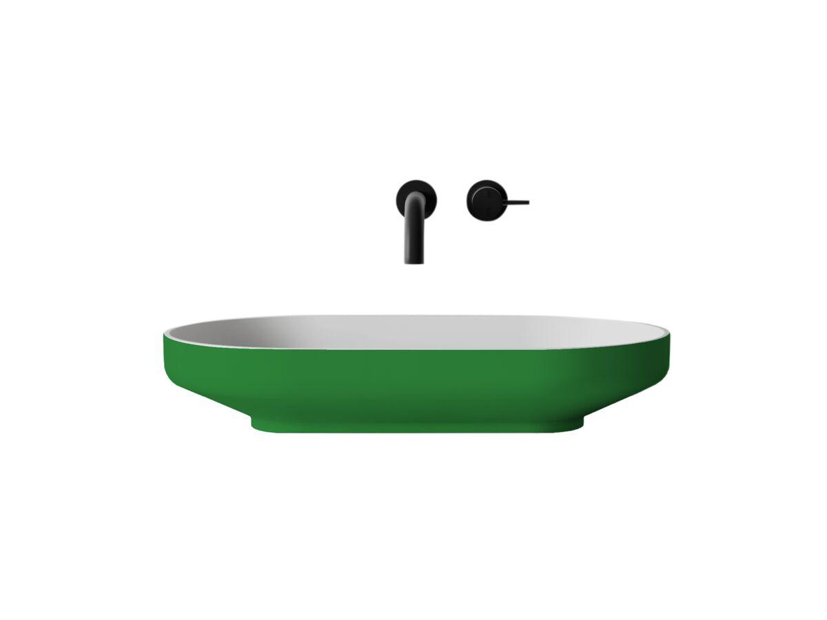 Venice 700 Counter Basin Solid Surface Softskin Emerald Green