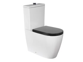 Wolfen Ambulant Close Coupled Back To Wall Toilet Suite Double Flap Grey (4 Star)