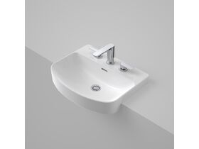 Caroma Forma Semi Recessed Basin 3 Taphole with Overflow