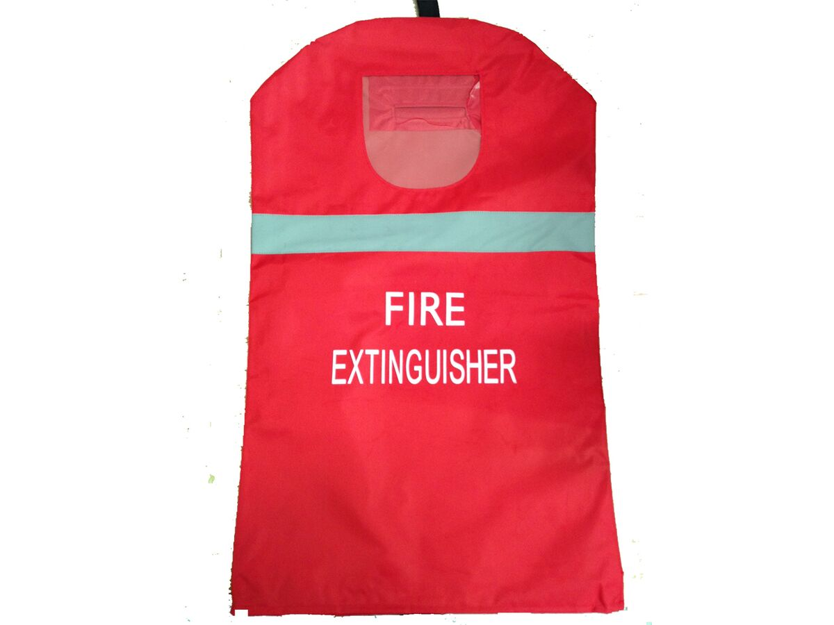 Fire Extinguisher UV Treated Cover, Window & Reflective Strip - 4.5kg