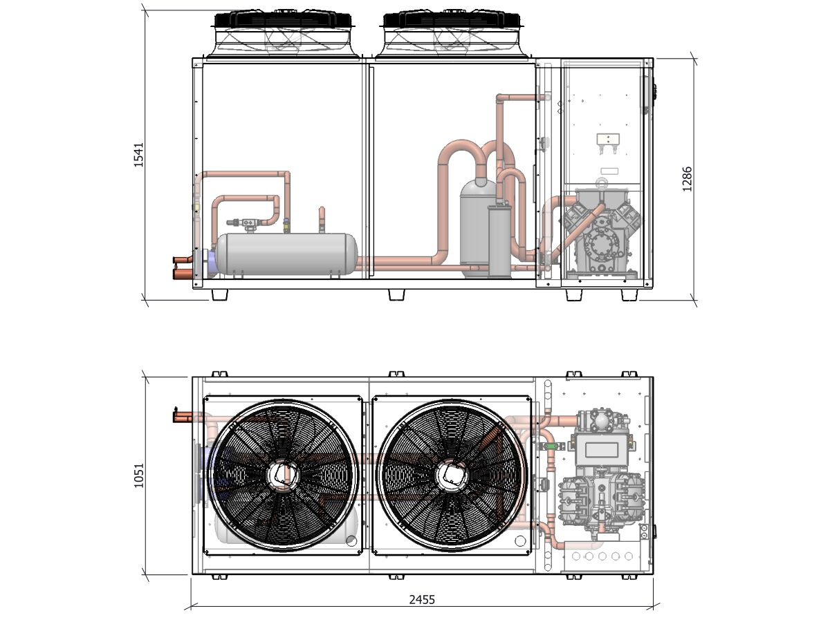 ACPAC Packaged Condensing Unit APS56.4Ml2-1