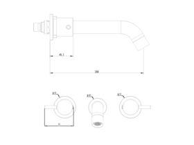 Mizu Drift Curved Wall Bath Set 200mm Chrome