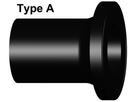 Long Spigot Stub Flange PE100 Black PN16 SDR11