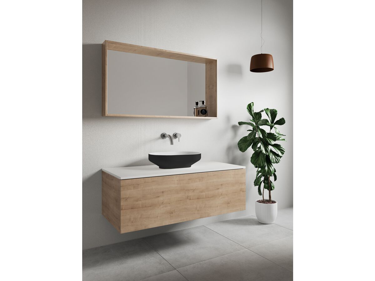 Venice 500 Counter Basin Solid Surface Sofskin Black
