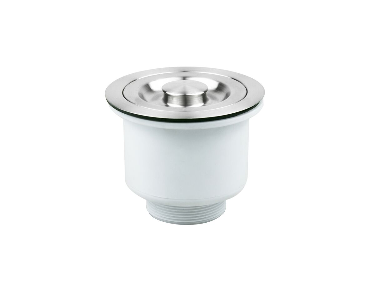Memo Removable Deep Basket Waste with Plug Stainless Steel