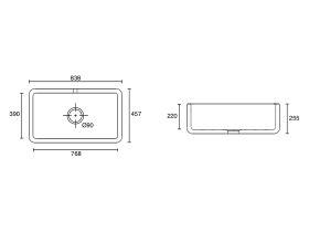 Shaws Lancaster Single Bowl 840mm Fireclay Butler Sink