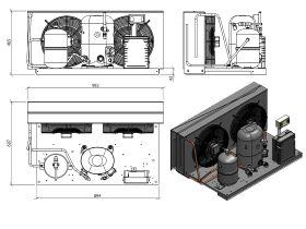 Tecumseh HTA Condensing Unit 2hp R134 MHBP TFHT4525YHR-2