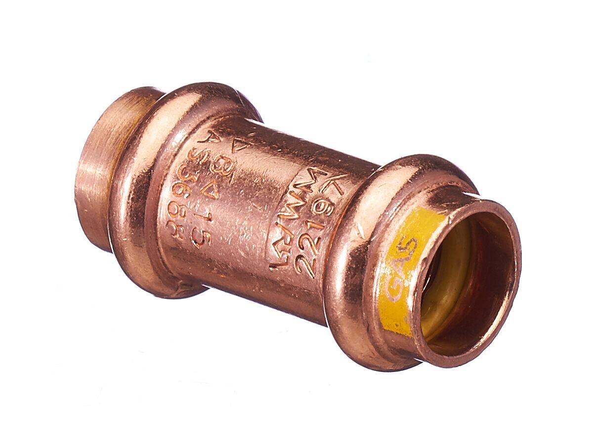 >B< Press Gas Repair Coupler 15mm
