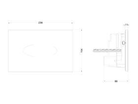 Hideaway+ Sensor Button / Plate Inwall Black