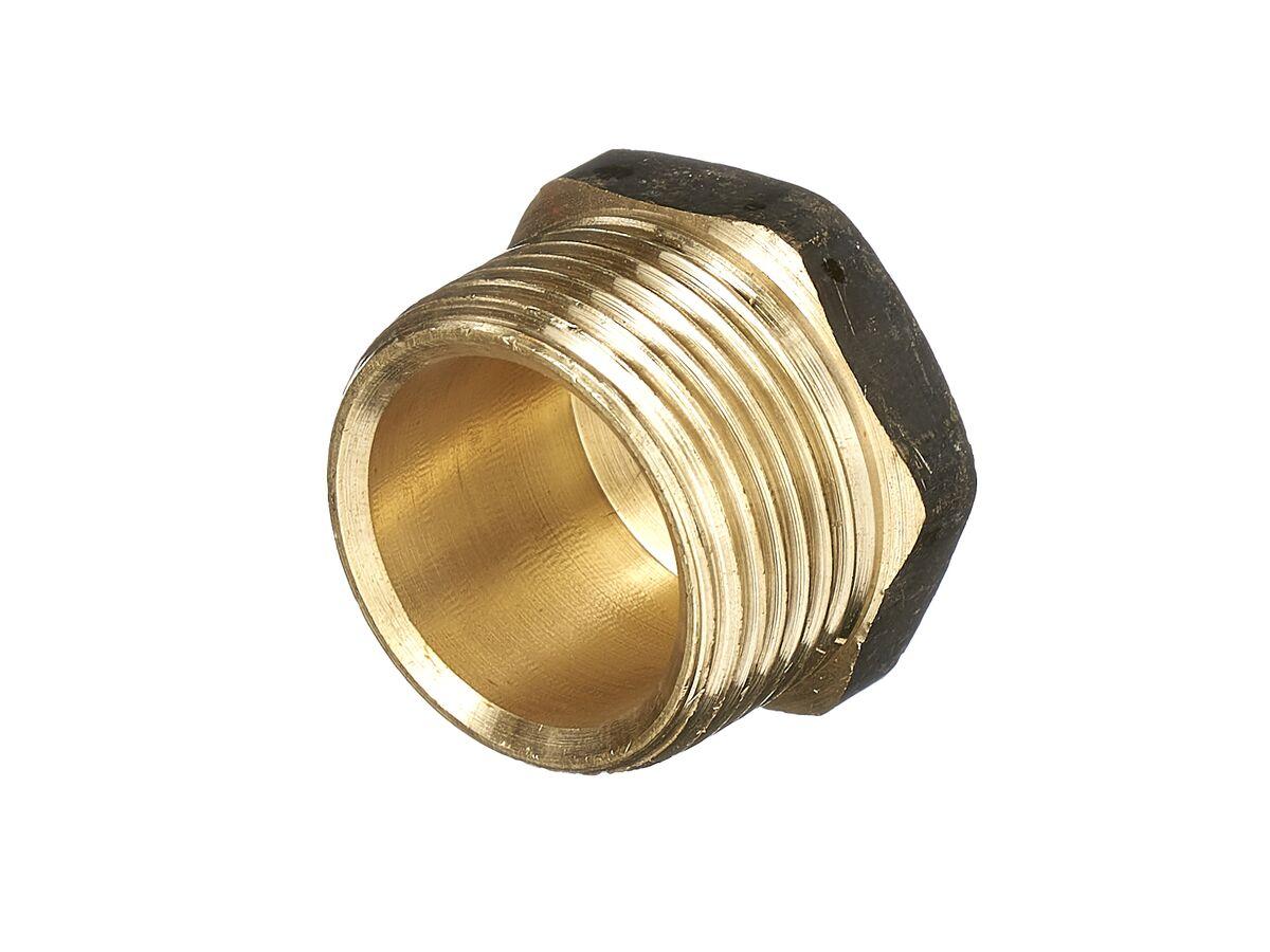 Plug Hex Square Brass 20mm