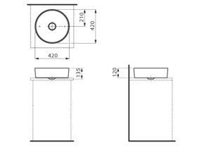 Laufen Kartell Washbasin Round Bowl 420mm White