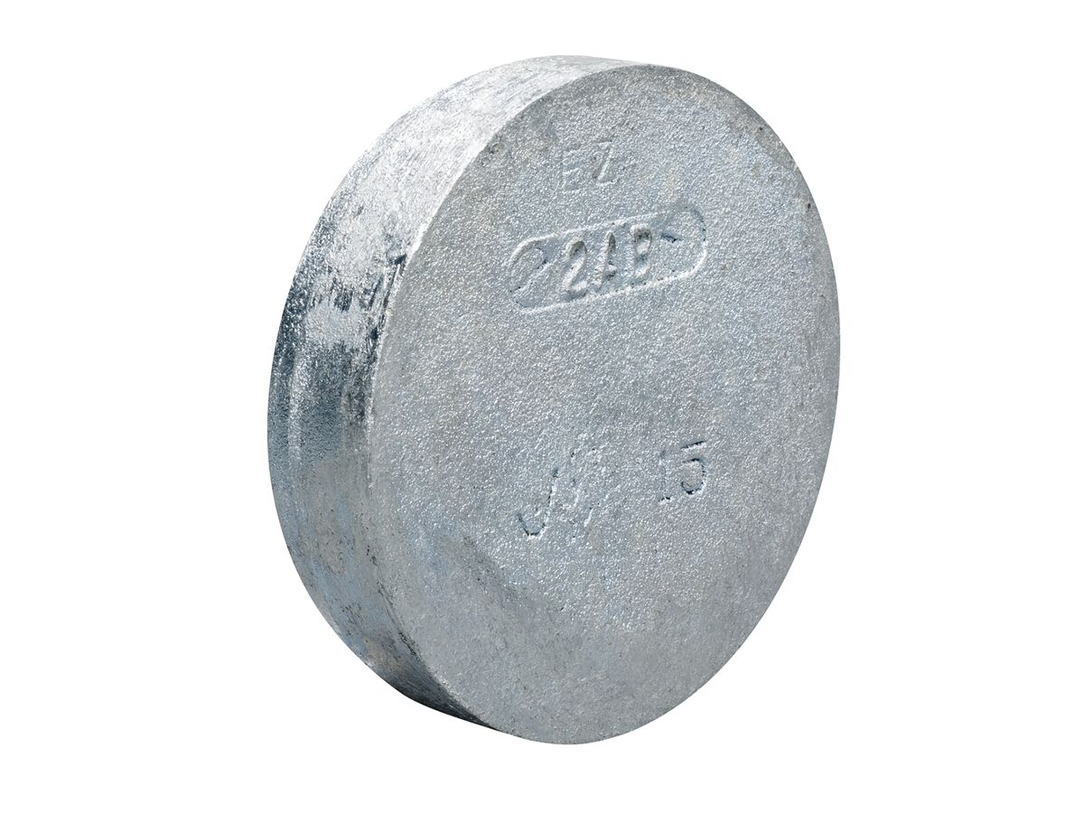 Roll Groove Cap (Galvanized)