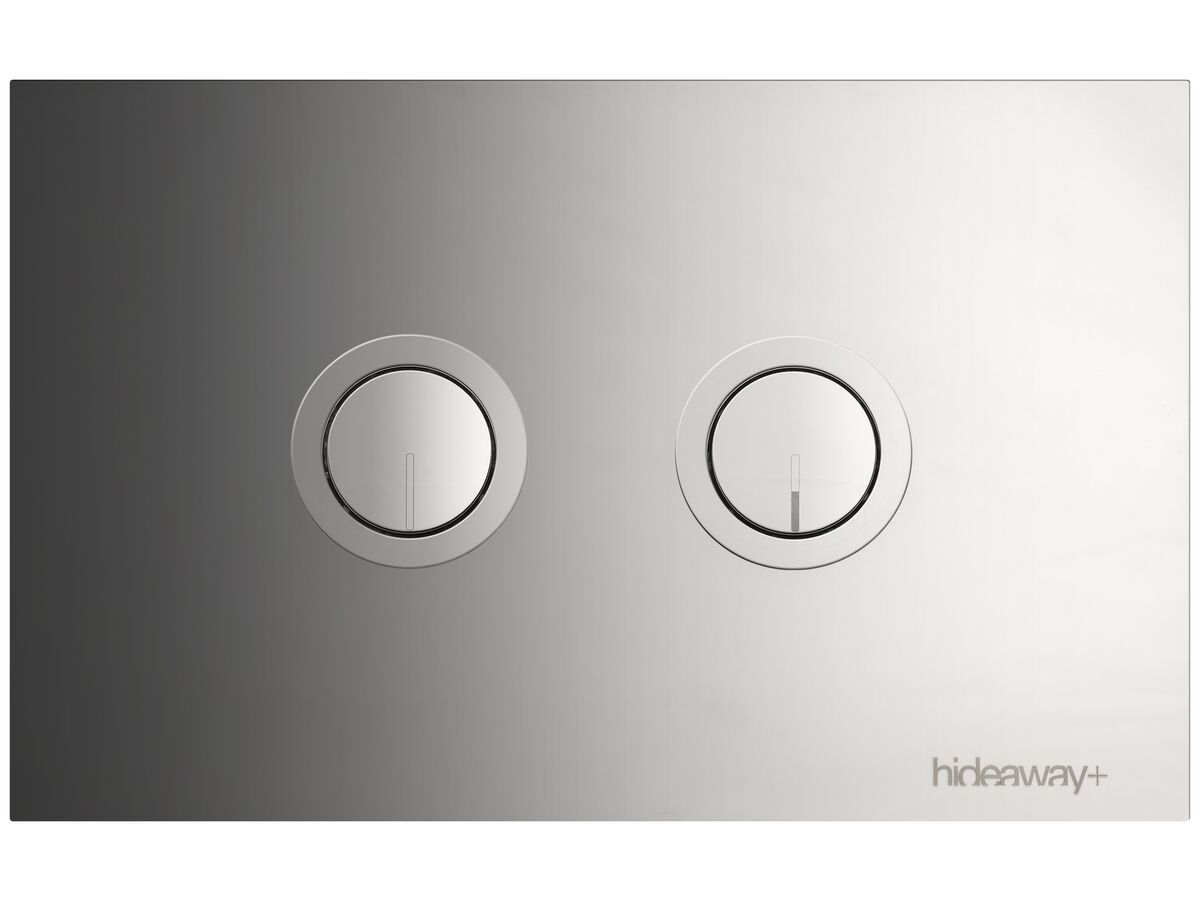 Hideaway+ Round Button Plate Inwall Polished Stainless Steel