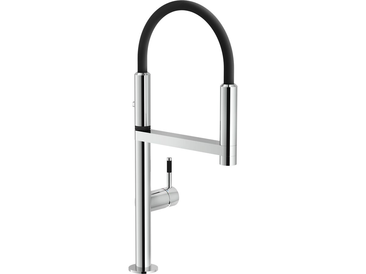 Nobili Move Pull Down Sink Mixer Chrome with Chrome Hose (5 Star)