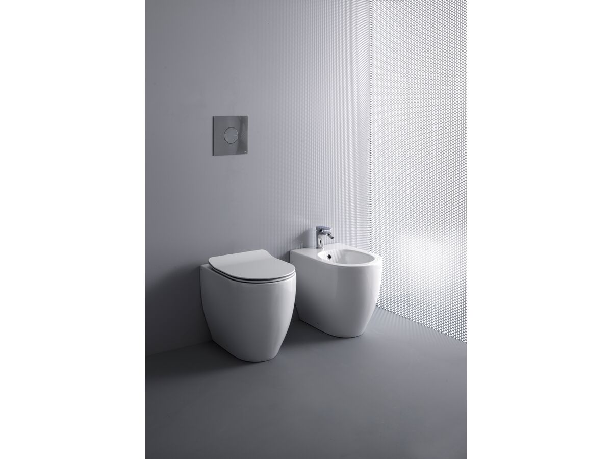 AXA Uno Back To Wall Rimless Pan Soft Close Quick Release Seat White (4 Star)