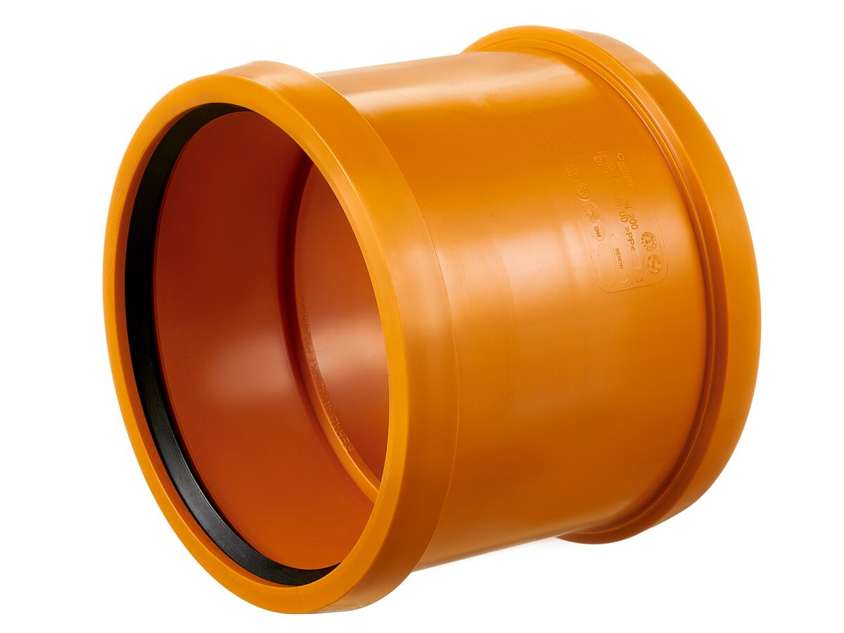 Rehau Awaduct PP Double Socket Coupler 200mm
