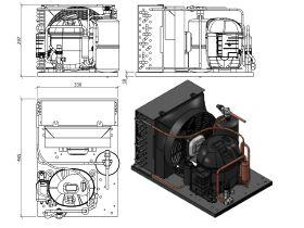 Tecumseh Condensing Unit 1/4HP R134A MHBP AET4430YHR