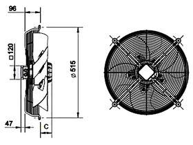 SolerPalau Fan 450mm 1Ph HRB/4-450/30BPN