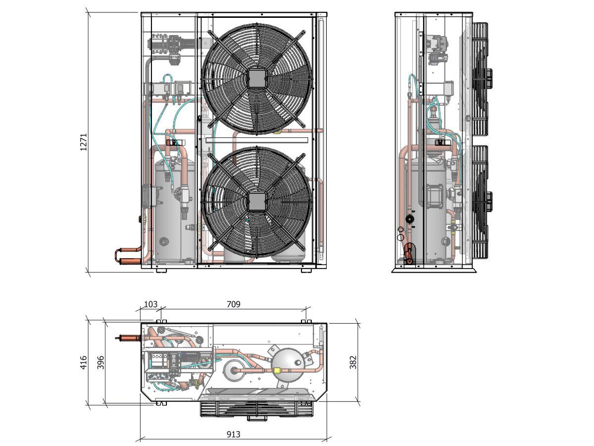 Tecumseh Compac Scroll 10Hp Pas4612Z-3