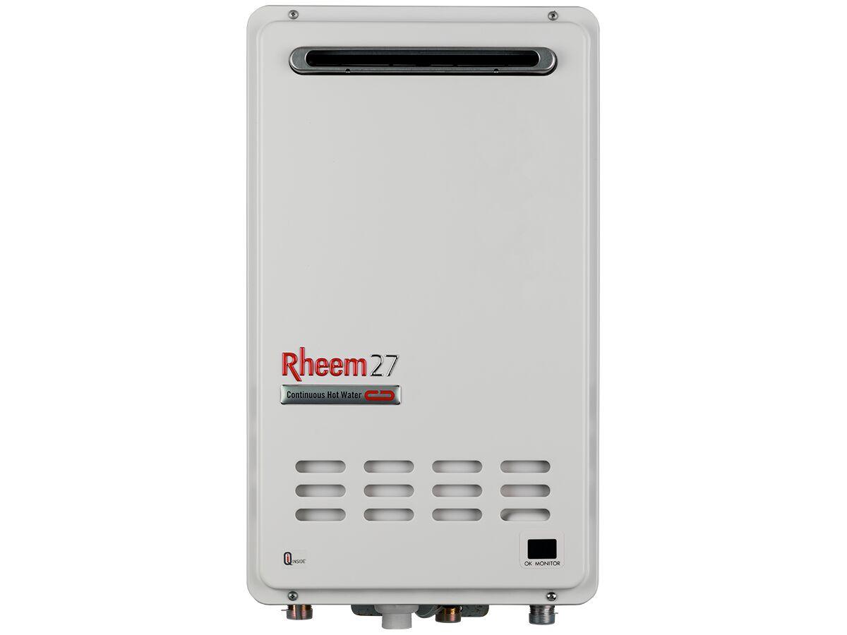 Rheem 27 Continuous Flow External Hot Water Unit Lpg (Frost) 6 Star