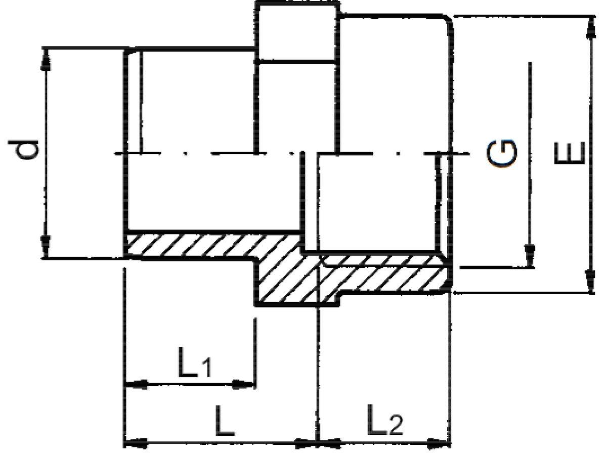 Schedule 80 Pvc-U Adaptor Female