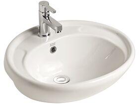 American Standard Studio Semi Recessed Basin 1 Taphole White