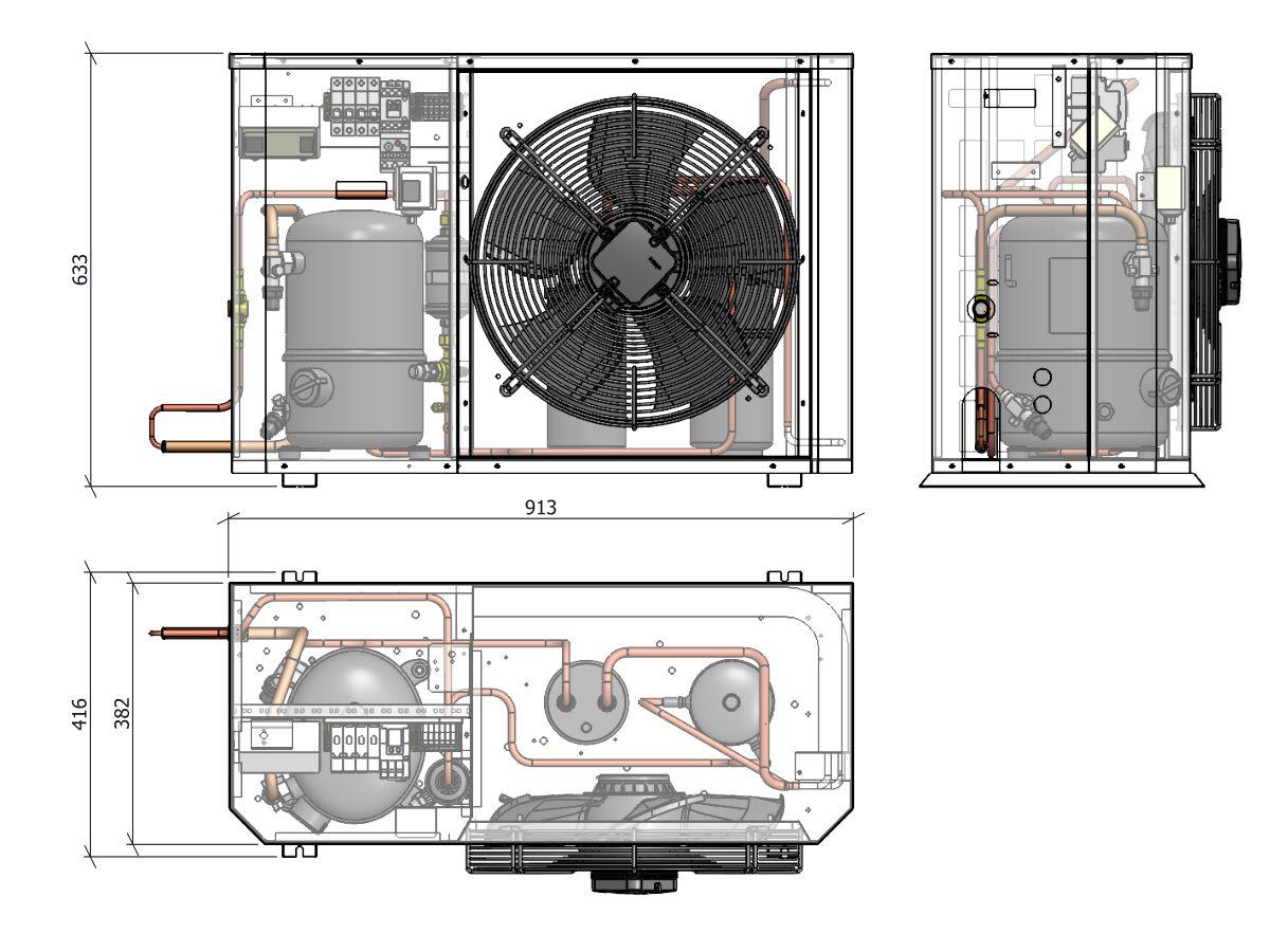 Tecumseh Compac Condensing Unit R134a PACS4518Y 1 Phase